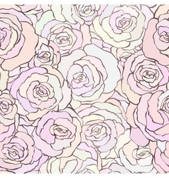 Seamless pattern with beautiful roses in soft vector