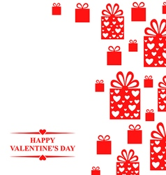 Valentine gift red vector