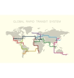 global rapid transit system vector image