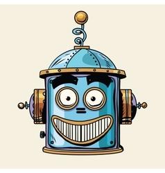 Emoticon happy emoji robot head smiley emotion vector