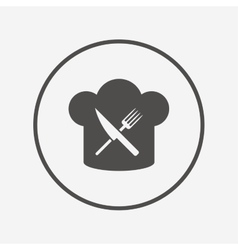 Chef hat sign icon cooking symbol vector