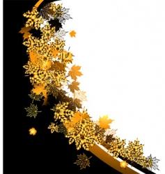 autumn frame maple leaf vector image vector image