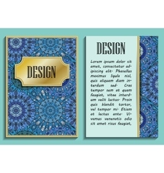 Card or invitation in oriental style with eastern vector