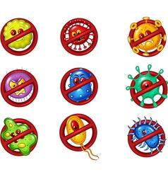 Cartoon of stop virus vector image vector image