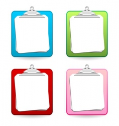 colorful clipboards vector image vector image