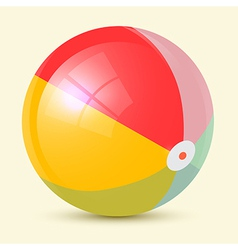 Colorful Retro Beach Ball vector image