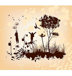 Dandelion Flight Concept Background vector image vector image