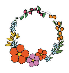 delicate flower icon image vector image