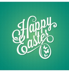 easter vintage sign background vector image vector image