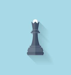 Flat web icon chess figure vector