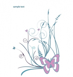 floral butterfly design vector image vector image