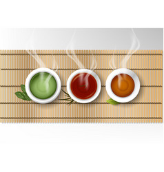 Isolated cup of coffee collection set of various vector