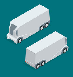 isometric an unmanned truck on the remote control vector image vector image