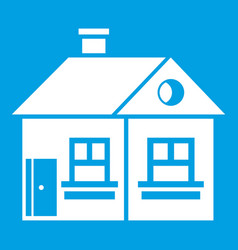 Large single-storey house icon white vector