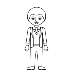Man silhouette with formal suit and bussines vector