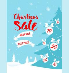 mega sale poster vector image vector image