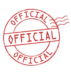 official sign or stamp vector image