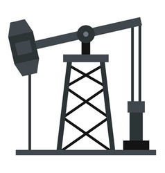 Oil pump icon isolated vector