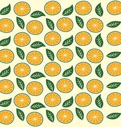Orange fruit pattern vector