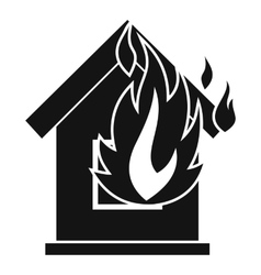Preventing fire icon simple style vector image