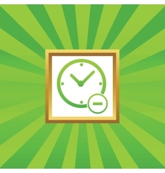 Reduce time picture icon vector