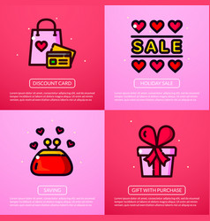 Sale of valentine day vector