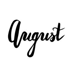 Summer quot - august vector