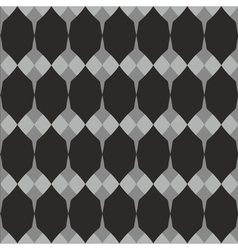 Tile black white and grey pattern vector image vector image