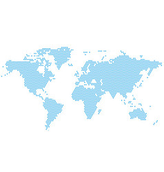 World continents map - dots style vector