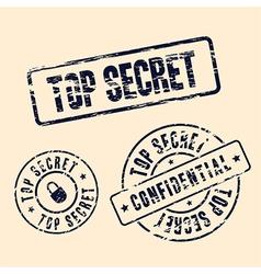 top secret stamp set vector image