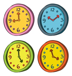 Clocks color set vector