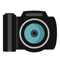 Photocamera icon flat style vector