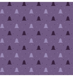 Naive christmas seamless pattern with trees ans vector
