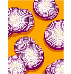 onions on orange vector image
