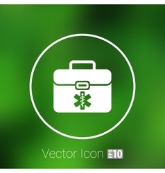 First aid icon kit medical box cross symbol vector