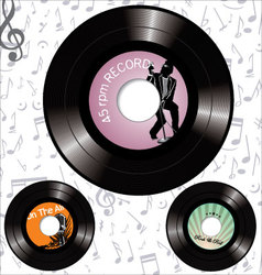 record labels vector image