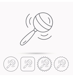 Baby rattle icon toddler toy sign vector