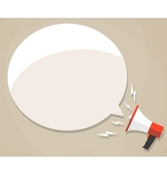 Megaphone with white bubble vector