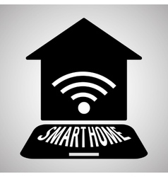 Smart home design technology icon system concept vector