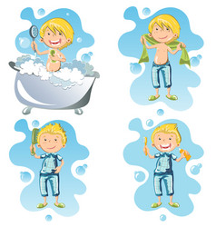 a person doing hygiene vector image vector image