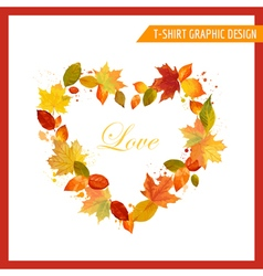 Autumn shabby chic graphic design vector