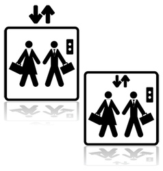 Business elevator vector image vector image