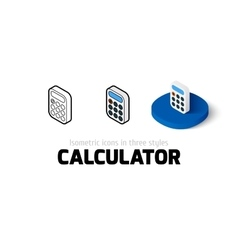 Calculator icon in different style vector image vector image