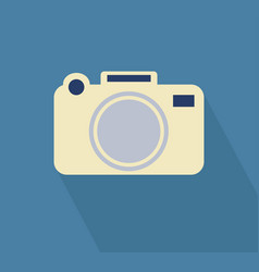 Camera icon long shadow vector