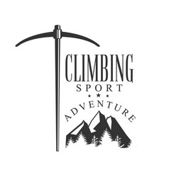 Climbing sport adventure mountain hiking vector