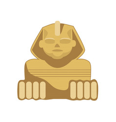 egyptian sphinx statue symbol of ancient egypt vector image