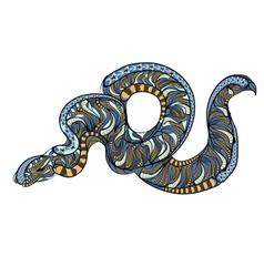 Ethnic royal python vector