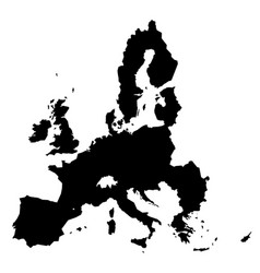 european union territory black silhouette isolated vector image vector image