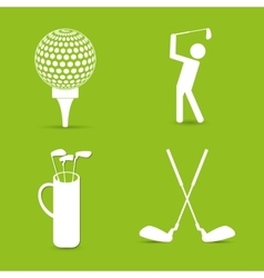 Golf sport design vector image