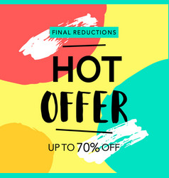 hot offer sale banner vector image